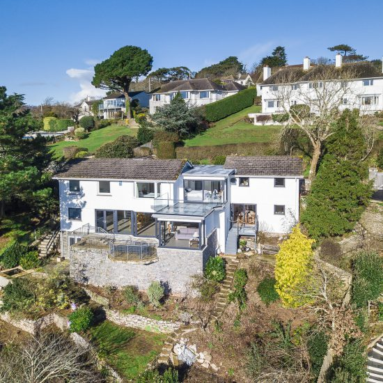 Cornwall home elevated view