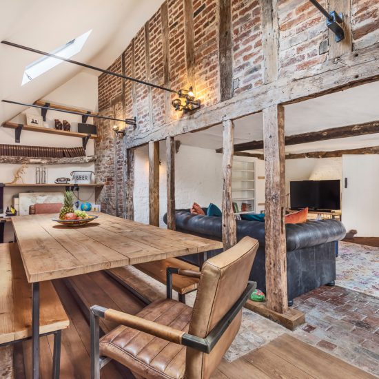 Barn conversion split room