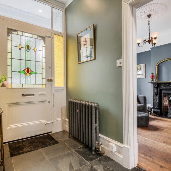 Stain glass period door