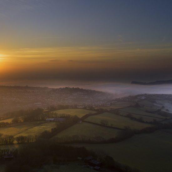 Drone sunrise image