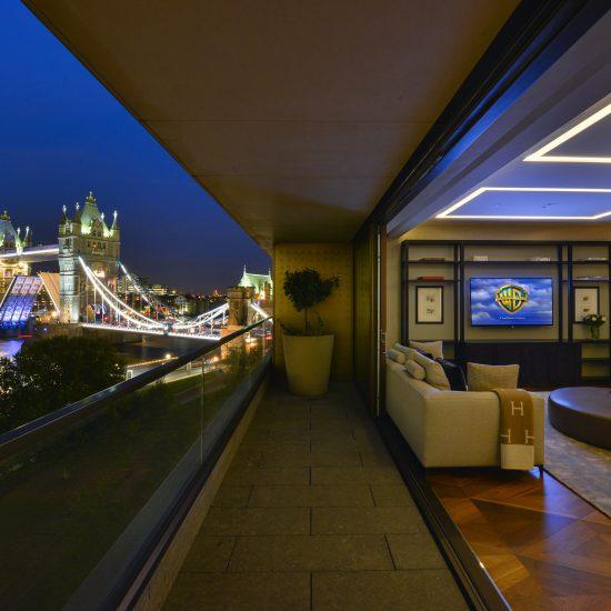 Night photography of London