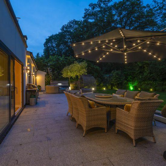 Dusk patio shot