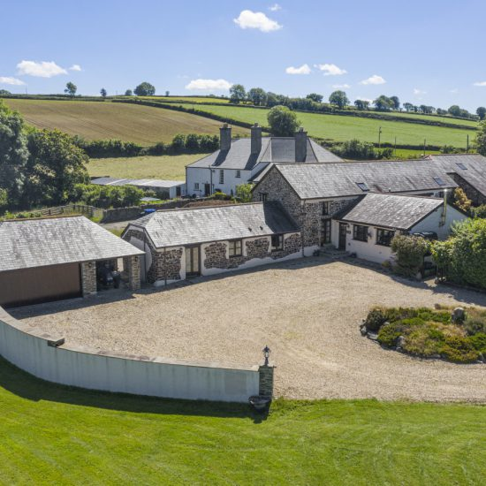 Drone image of barn conversion