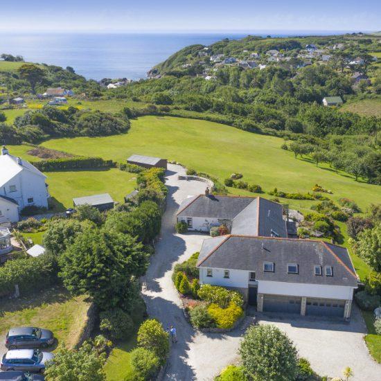 Devon home drone image
