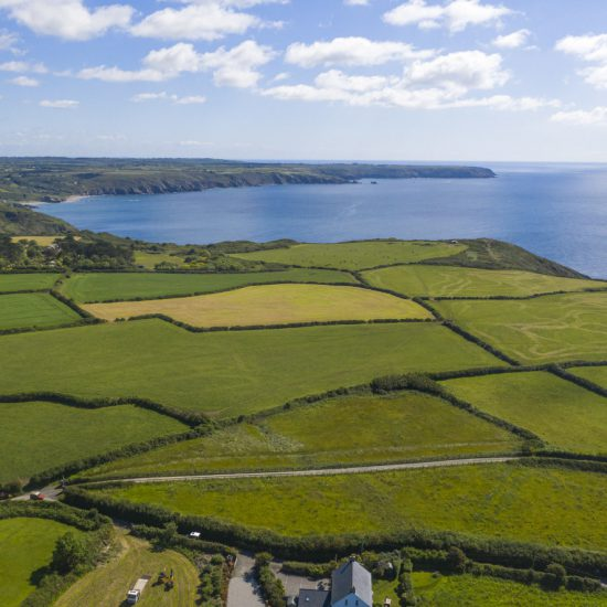 Cornwall location drone image