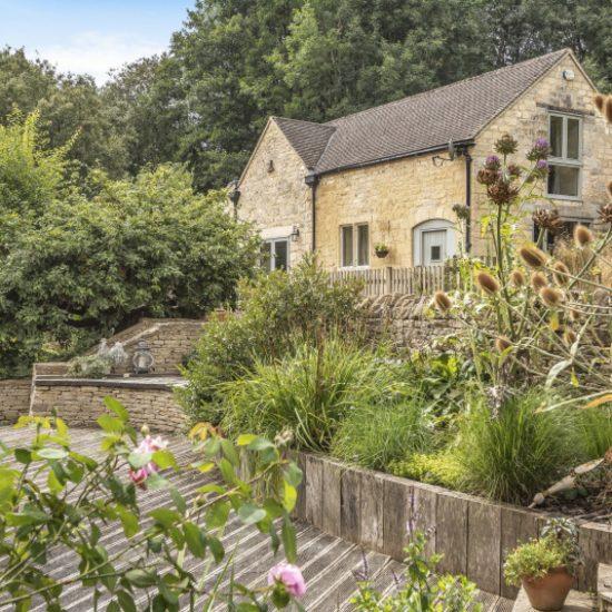 stone cottage rural image