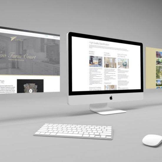 Capella new homes website design