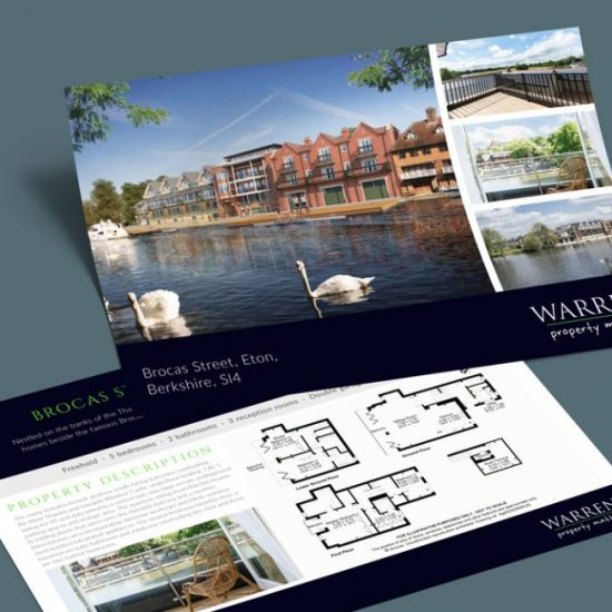 Warren estate agency marketing flyer