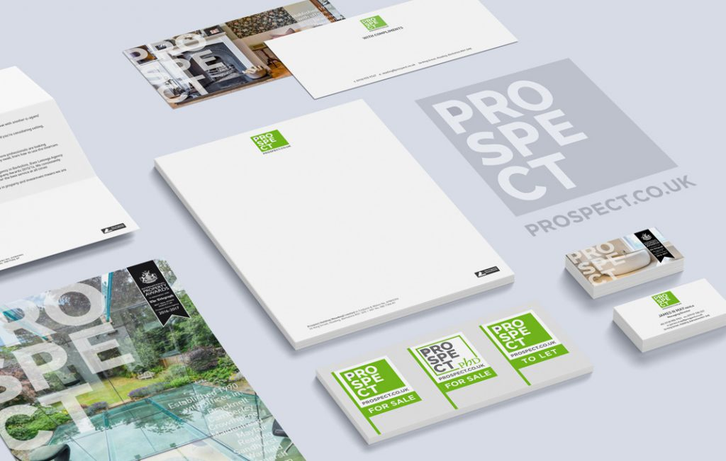 estate agency branding and business cards