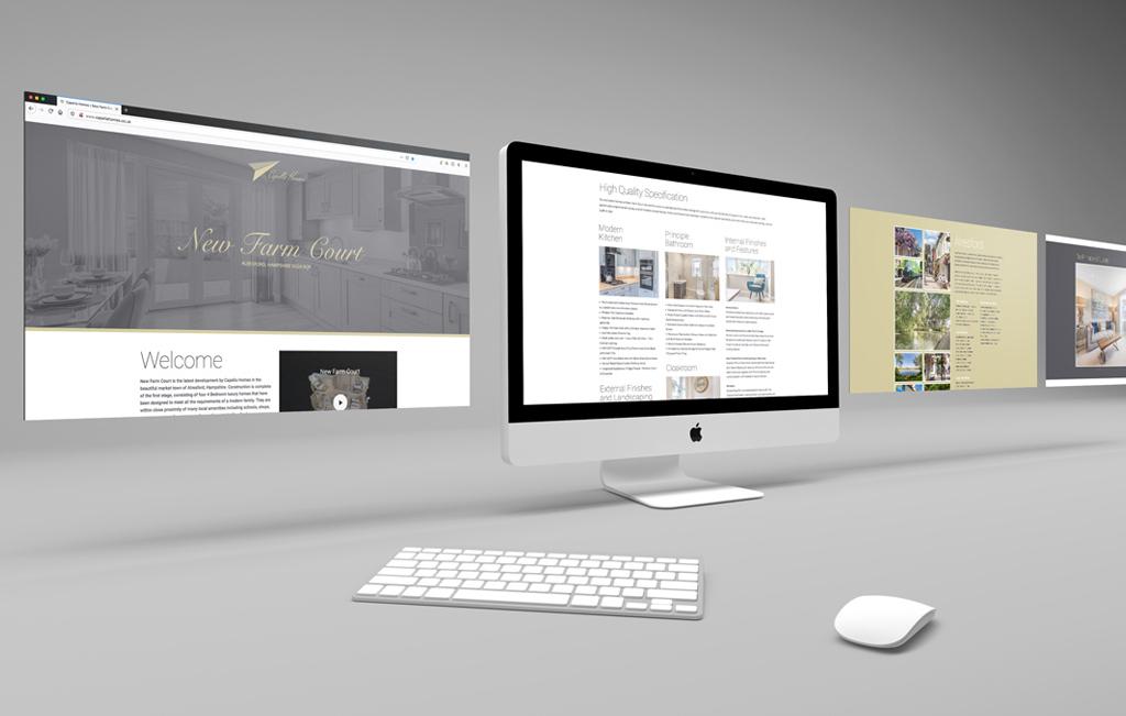 Capella new homes website design