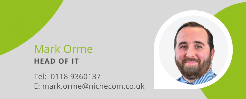 Mark Orme Head of IT NicheCom