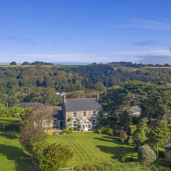 Rural Devon property drone image